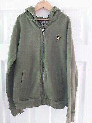 Lyle &Scott Fantastic Boys Dark Green Hooded Jacket Age 12-13 Years Great Cond