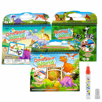 Galt Toys Kids Water Magic Pads Painting Colouring Drawing Art Sketch Books +Pen
