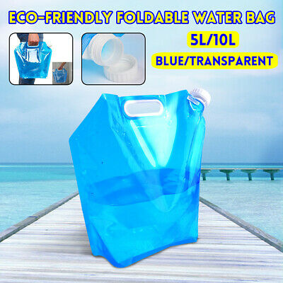 5/10L Portable Foldable Drinking Water Bag Carrier Container Outdoor Camping