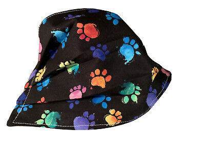 Animal Prints Dogs Pets Rescue Adult Face Mask Fabric Paw Prints Washable New