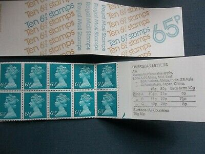 Fc1B 65 Pence Right Margin March 1976 Gb Stamp Booklet E Perf Half Arrow Base