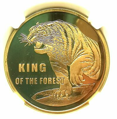 """L7002, Visiting Korea Proof Coin Series """"Tiger"""", Brass 2019"""