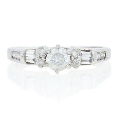.56ctw Round Brilliant Diamond Engagement Ring - 14k White Gold