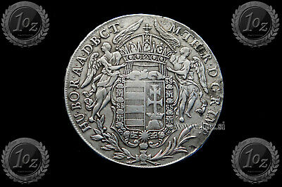 HUNGARY 1 THALER 1780 (M. THERESIA - MADONNENTHALER) SILVER coin (KM# 386) F-VF