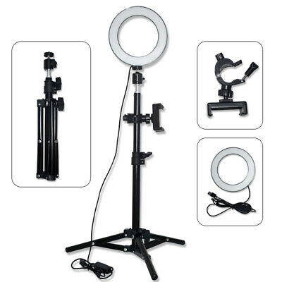 """6"""" Dimmable LED Ring Light Phone Selfie Camera Photo Studio Video Tripod Stand"""