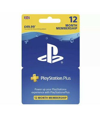 NEW! SONY PlayStation Plus 12 Month Subscription PS4 PS3 RRP £49.99FREE DELIVERY