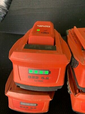 4 x 5.2 hilti 22v batteries .  good used condition