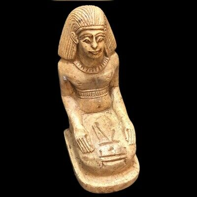 Beautiful Ancient Egyptian High Quality Heavy Stone   Statuette 300 Bc