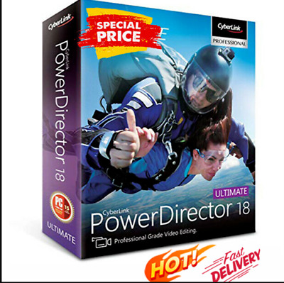 CyberLink PowerDirector Ultimate 18 🔥Genuine Life time ✅License | FAST DELIVERY