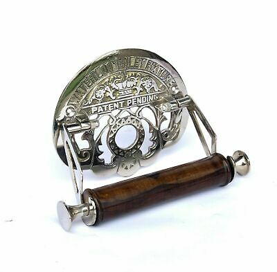 Victorian Waterloo Toilet Roll Holder Solid Brass with Chrome Silver Finish.