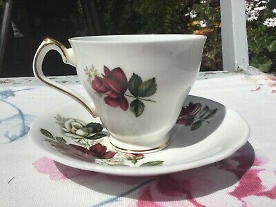 Royal Windsor Bone China Tea Cup and Saucer excellent vintage condition