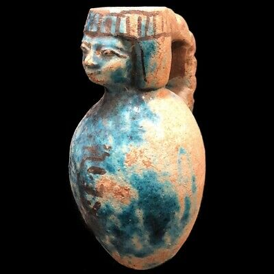Very Rare Large Ancient Egyptian Storage Jar Vessel Late Period 664 - 332 Bc (1)