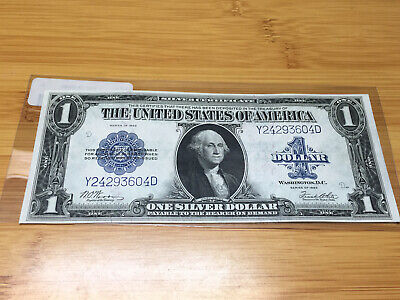 1923 $1 Silver Certificate Note Large Size Currency YD Block