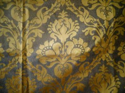 A Fabulous Large Antique French Gold/Bronze Silk Damask Panel
