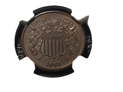 1864 Large Motto 2 Cent NGC 63 Unc. Nice