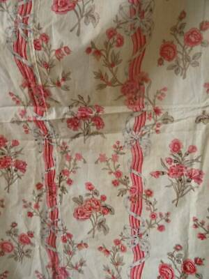 A Huge Antique French Country Floral Curtain Panel C.1910