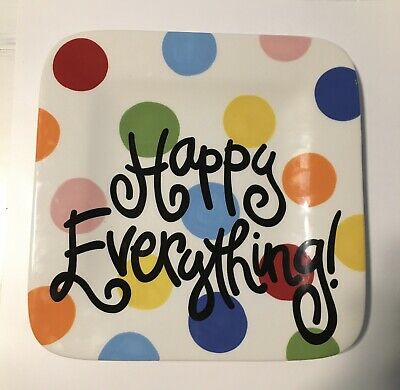 Bright Dot Mini Happy Everything! Square Platter Coton Colors Collection