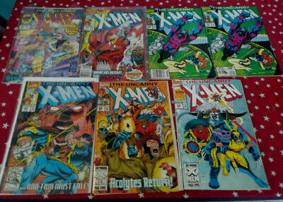The Uncanny X-Men Lot of 7 Issues 281,284,286,286,287,298 and #300 Marvel Comics