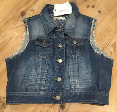 Marks & Spencer Girls Blue Denim Gilet~body warmer Size Large