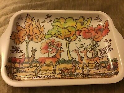 AUTUMN LAUNCH! Emma Bridgewater Melamine Tray, Deer ,20x14.5cms.
