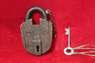 Brass Lock and Keys 1900s Antique Rare Old Iron Padlocks Collectible BI-79