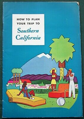 Plan Yout Southern California Trip orig 1941 Tourist Guide Booklet