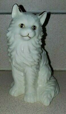 Porcelain White Cat Figurine With Gold Inlay Accents 1999 Westland #9246