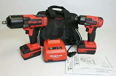 "Snap-On 18V Cordless Impact Wrench Set CT8850 1/2"" & CT8810 3/8"""