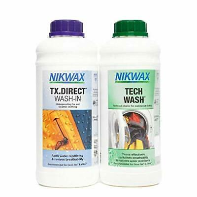 Nikwax Tech Wash and TX. Direct Wash-In Double Pack - Transparent, 2 x 1 Litre