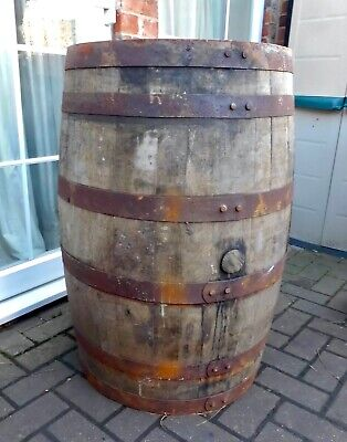 Large Oak Weathered Whisky Barrel~Loch Lomond Distillery~Garden Feature~Tubs
