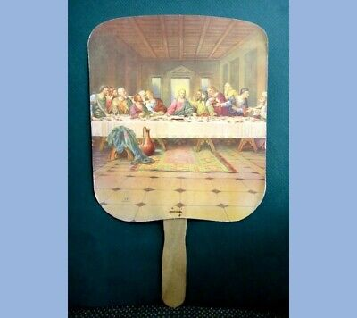 vintage ADVERTISING HAND FAN~mcminnville tn MAYES GROCERY jesus last supper