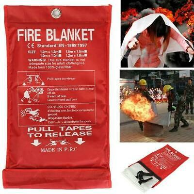CE APPROVED RED FIRE BLANKET Case Quick Release Home Kitchen Office Caravan 1M