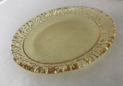 Fire and Light Recycled Glass —Citrus Moonstone Salad Plate - Second