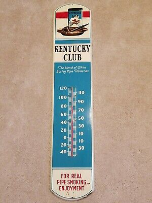 """VINTAGE KENTUCKY CLUB Tobacco THERMOMETER 39""""  Beautiful Color"""