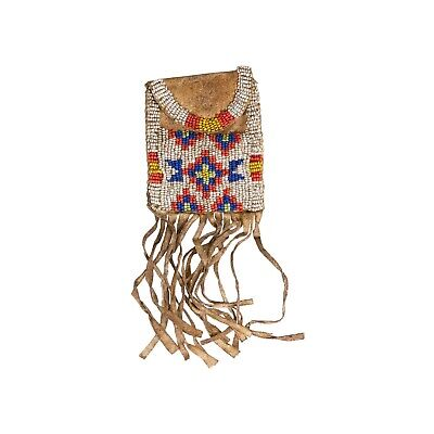 Northern Plains Beaded Belt Pouch