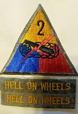 Ww2 Shoulder Patch, 2Nd Armored Division, U.s. Issue *Nice* #3