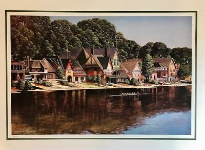 Boathouse Row, Philadelphia ~ Painting by Paul MacWilliams / Sports Print