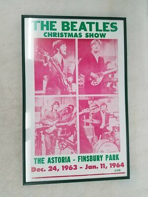 The Beatles Christmas Show '63-'64 Lithograph Framed 14x22