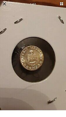 1865 Mexicano Imperio Maximiliano Emperador Gold 1 Peso Coin Mexico. 0.4 grams