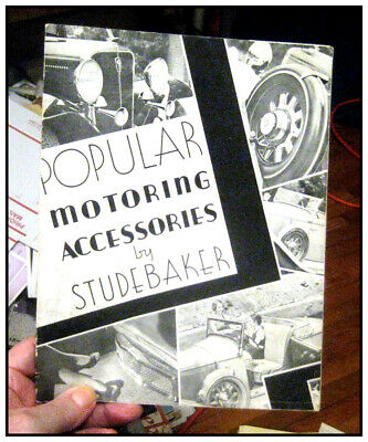 1932 Studebaker & Rockne all models 36 p ORIGINAL accessory catalog 63 photos