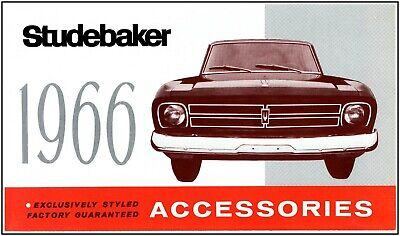 1966 Studebaker large accessory fold out 39 images & descriptions all models