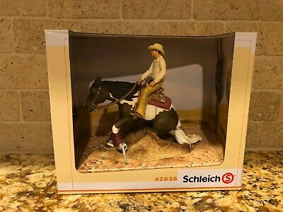 SCHLEICH Western Riding Set Horse With Rider 42036 Retired RARE Brand New In Box