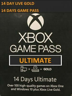 XBOX One/360 Game Pass+live ULTIMATE 14 DAYS INSTANT DELIVERY