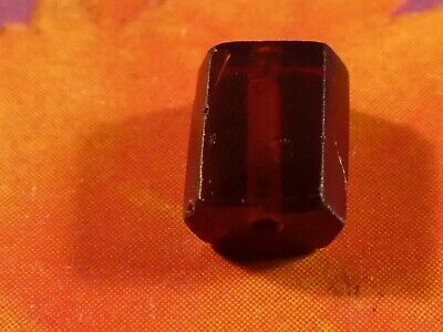 Ancient Pyu South East Asian Gorgeous Jewel Faceted Prism Garnet Bead 7 By 5.7