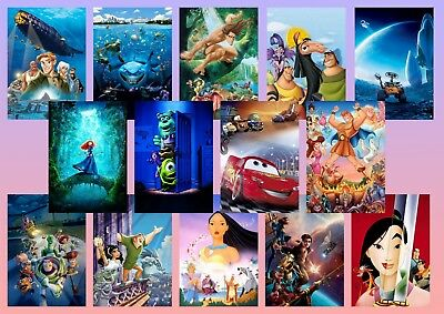 Toy Story  Brave  Wall E  Mulan  Pocahontas  Cars A5 A4 A3 Movie DVD Posters