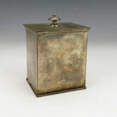 Antique Silver Plated Yellow Metal - Small Tea Caddy - Lovely!