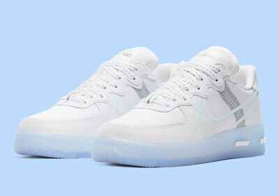 Nike Air Force 1 React QS, White Light Bone Sail Rush Coral
