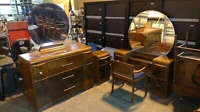 1930s Era Art Deco Bedroom Set