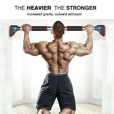Pull Up Bar Door Home Heavy Duty Upper Body Workout Gym Exercise Adjustable US