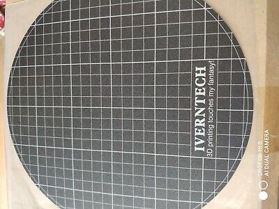 Iverntech 3D Printer Build Surface Sticker for 9.44 inches Round Glass Plate and